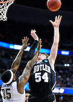 Matt Howard of the Bulldogs goes up strong to the basket. Butler upset no.1 seed Pittsburgh 71-70 during the 3rd round of the NCAA Tournament at the Verizon Center in Washington, D.C on Saturday, March 19, 2011. Alan P. Santos/DC Sports Box