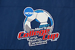 13 December 2007: The College Cup logo on the interview room backdrop. The Wake Forest University Demon Deacons held a press conference at SAS Stadium in Cary, North Carolina one day before playing in a NCAA Division I Mens College Cup semifinal game.