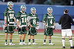 Placentia, CA 05/14/10 - The Mira Costa captains Nick de la Espriella (MC # 28), Cole Russert (MC # 15), Mitchell Hymowitz (MC # 8) and Conor Murphy (MC # 4) at the start of the game.