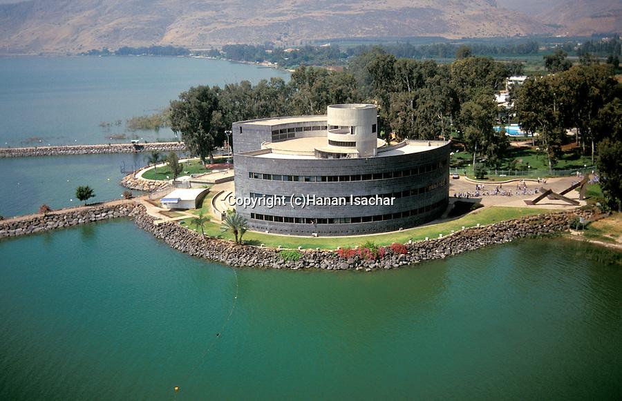 Israel, Sea of Glilee, Yigal Allon museum in Kibbutz Ginosar, site of Jesus boat