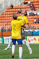 SAO PAULO, SP, 16 DE DEZEMBRO 2012  - TORNEIO INTERNACIONAL CIDADE DE SAO PAULO - Debinha (20) jogadora do Brasil comemora gol durante partida contra Dinamarca valoda para o Torneio Internacional Cidade se Sao Paulo no Estadio do Pacaembu na tarde deste domingo . FOTO VANESSA CARVALHO - BRAZIL PHOTO PRESS.