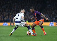Manchester City's Raheem Sterling and Tottenham Hotspur's Kieran Trippier<br /> <br /> Photographer Rob Newell/CameraSport<br /> <br /> UEFA Champions League Quarter-finals 1st Leg - Tottenham Hotspur v Manchester City - Tuesday 9th April 2019 - White Hart Lane - London<br />  <br /> World Copyright © 2018 CameraSport. All rights reserved. 43 Linden Ave. Countesthorpe. Leicester. England. LE8 5PG - Tel: +44 (0) 116 277 4147 - admin@camerasport.com - www.camerasport.com