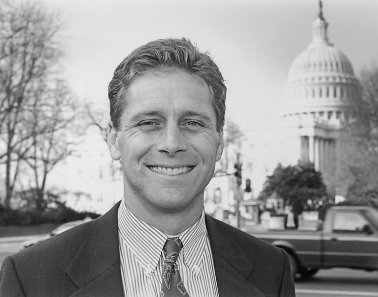 Rep. Steve Largent, R-Okla., on Capitol Hill, on Dec. 19, 1994. (Photo by Chris Martin/CQ Roll Call via Getty Images)