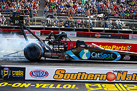 May 4, 2018; Commerce, GA, USA; NHRA top fuel driver Scott Palmer during qualifying for the Southern Nationals at Atlanta Dragway. Mandatory Credit: Mark J. Rebilas-USA TODAY Sports