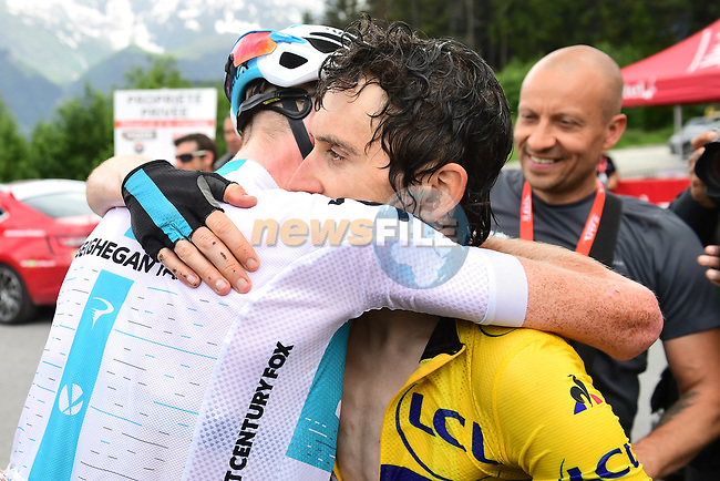 Geraint Thomas (WAL) Team Sky wins the 2018 Criterium du Dauphine 2018 running 136km from Moutiers to Saint Gervais Mont Blanc, France. 10th June 2018.<br /> Picture: ASO/Alex Broadway | Cyclefile<br /> <br /> <br /> All photos usage must carry mandatory copyright credit (© Cyclefile | ASO/Alex Broadway)