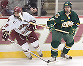 Nathan Gerbe, Mark Lutz - The Boston College Eagles completed a shutout sweep of the University of Vermont Catamounts on Saturday, January 21, 2006 by defeating Vermont 3-0 at Conte Forum in Chestnut Hill, MA.
