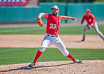 28 February 2016: Washington Nationals pitcher Matt Grace on the mound during an inter-squad pre-season Spring Training game at Space Coast Stadium in Viera, Florida. Mandatory Credit: Ed Wolfstein Photo *** RAW (NEF) Image File Available ***
