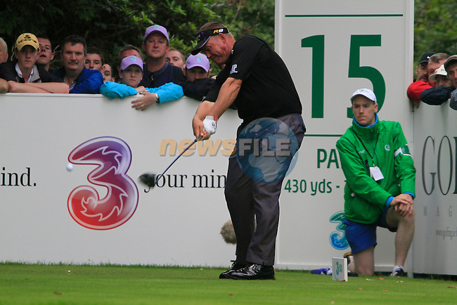 Darren Clarke tees off on the 15th tee during Day 2 of the 3 Irish Open at the Killarney Golf & Fishing Club, 30th July 2010..(Picture Eoin Clarke/www.golffile.ie)