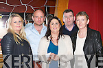 Margaret Hennessy, Lorcan Nolan, Margaret Carmody Tralee, PJ and Julie Rohan Brosna at the Paudie Fitzmaurice memorial dance in the River Island Hotel on Friday night..