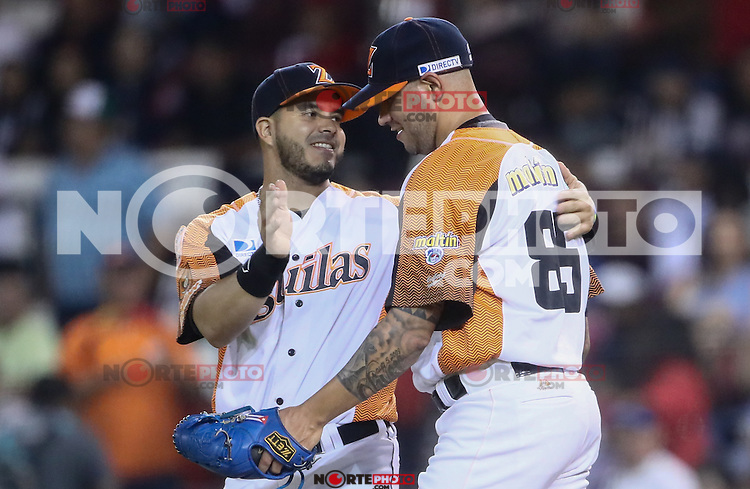 Hasan Pena pitcher relevo de Venezuela celebra la victoria ocho carreras por 3 sobre Cuba.<br /> Acciones., durante el partido de beisbol de la Serie del Caribe entre Alazanes de Granma Cuba vs las &Aacute;guilas del Zulia Venezuela en el Nuevo Estadio de los Tomateros en Culiacan, Mexico, Sabado 4 Feb 2017. Foto: Luis Gutierrez/NortePhoto.com.    ****<br /> <br /> Actions, during the Caribbean Series baseball match between Granma Cuba vs Alajuelas de Zulia Venezuela at the New Tomateros Stadium in Culiacan, Mexico, Saturday 4 Feb 2017. Photo: Luis Gutierrez / NortePhoto.com