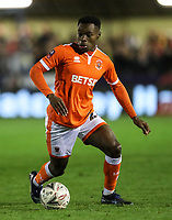 Blackpool's Marc Bola <br /> <br /> Photographer Andrew Kearns/CameraSport<br /> <br /> The Emirates FA Cup Second Round - Solihull Moors v Blackpool - Friday 30th November 2018 - Damson Park - Solihull<br />  <br /> World Copyright © 2018 CameraSport. All rights reserved. 43 Linden Ave. Countesthorpe. Leicester. England. LE8 5PG - Tel: +44 (0) 116 277 4147 - admin@camerasport.com - www.camerasport.com