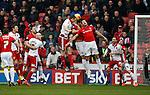 Neill Collins of Sheffield Utd directs a header goal wards - English League One - Sheffield Utd vs Coventry City - Bramall Lane Stadium - Sheffield - England - 13th December 2015 - Pic Simon Bellis/Sportimage-