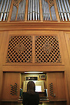 Israel, East Jerusalem, Organ playing on Christmas at St. George's Cathedral