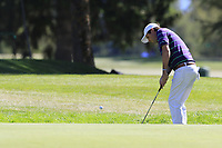 Thomas Aiken (RSA) chips onto the 5th green during Sunday's Final Round 4 of the 2018 Omega European Masters, held at the Golf Club Crans-Sur-Sierre, Crans Montana, Switzerland. 9th September 2018.<br /> Picture: Eoin Clarke | Golffile<br /> <br /> <br /> All photos usage must carry mandatory copyright credit (&copy; Golffile | Eoin Clarke)