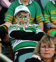 A Manawatu fan wears facepaint during the Air NZ Cup preseason match between Manawatu Turbos and Wellington Lions at FMG Stadium, Palmerston North, New Zealand on Friday, 17 July 2009. Photo: Dave Lintott / lintottphoto.co.nz