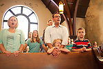 The Sunday service led by Reverend Matthew Nelson at Inman Park United Methodist Church in Atlanta, Georgia August 5, 2012...Leigh DeLoach (left) with husband James, and daughter Peyton, 6.