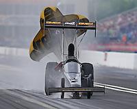 May 1, 2016; Baytown, TX, USA; NHRA top fuel driver Troy Buff during the Spring Nationals at Royal Purple Raceway. Mandatory Credit: Mark J. Rebilas-USA TODAY Sports