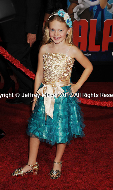 HOLLYWOOD, CA - OCTOBER 29: Isabella Cramp arrives at the Los Angeles premiere of 'Wreck-It Ralph' at the El Capitan Theatre on October 29, 2012 in Hollywood, California.