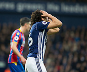 2nd December 2017, The Hawthorns, West Bromwich, England; EPL Premier League football, West Bromwich Albion versus Crystal Palace; Ahmed El Sayed Hejazi of West Bromwich Albion puts his hans on his head after missing a chance at the Crystal Palace goal