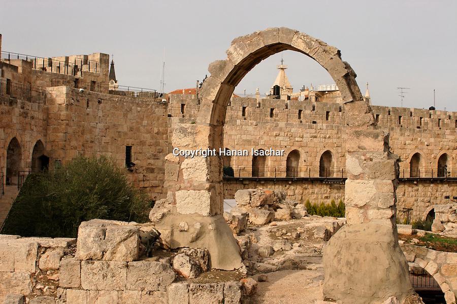Israel, Jerusalem, The Tower of David museum at the Citadel<br />