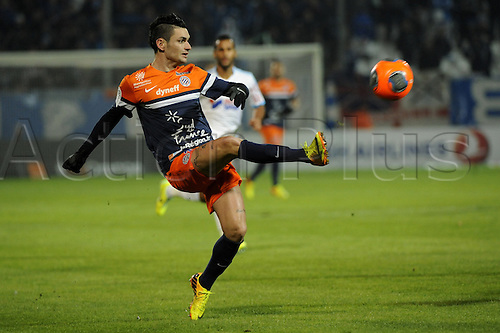 29.11.2013. Marseilles, France. French League 1 football. Marseilles versus Montpellier.  Cabella (MHSC)