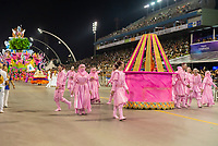 SÃO PAULO, SP, 09.03.2019 - CARNAVAL-SP - Integrante da escola de samba Rosas de Ouro durante Desfile das campeãs do Carnaval de São Paulo, no Sambódromo do Anhembi em Sao Paulo, na madrugada deste sábado, 09. (Foto: Anderson Lira/Brazil Photo Press)