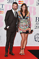 Dave Berry and Lisa Snowden arrives for the BRIT Awards 2015 at the O2 Arena, London. 25/02/2015 Picture by: Steve Vas / Featureflash