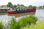 Gloucester and Sharpness Canal, Purton, Gloucestershire, England, UK Leonard Matchan, The Willow Trust narrow boat