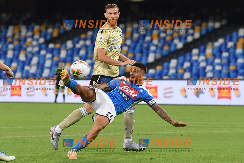 Lorenzo Insigne of SSC Napoli controls the ball during the Serie A football match between SSC Napoli and SPAL at stadio San Paolo in Naples ( Italy ), June 28th, 2020. Play resumes behind closed doors following the outbreak of the coronavirus disease. <br /> Photo Carmelo Imbesi / Insidefoto