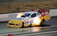 Jul. 24, 2009; Sonoma, CA, USA; NHRA funny car driver Ashley Force Hood during qualifying for the Fram Autolite Nationals at Infineon Raceway. Mandatory Credit: Mark J. Rebilas-