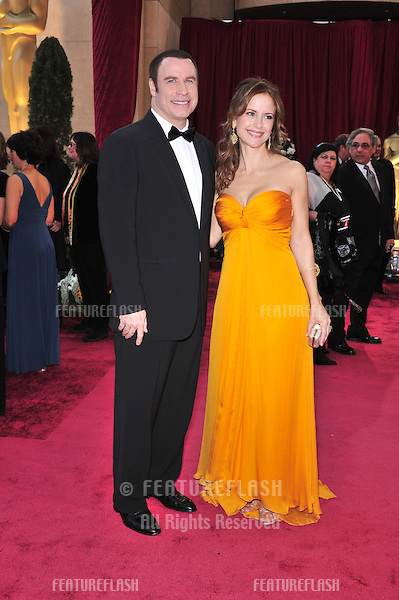 John Travolta & Kelly Preston at the 80th Annual Academy Awards at the Kodak Theatre, Hollywood, CA..February 24, 2008 Los Angeles, CA.Picture: Paul Smith / Featureflash