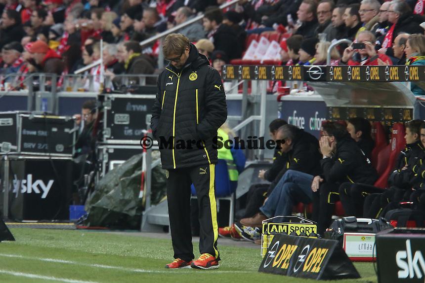 Trainer Jürgen Klopp (Mainz) enttäuscht - 1. FSV Mainz 05 vs. Borussia Dortmund, Coface Arena, 14. Spieltag