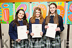 Presentation Secondary Tralee Graduations on Friday pictured l-r  Agnes Szarota, Shelly Stack and Kiera Quirke
