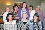 Annual Dinner : The committee of the Rathea-Irremore Senior Citizens Group at their annual dinner at Prim's Restaurant, Kilflynn on Thursday evening last. Front : Katie O'Callaghan, Nora McKenna & Bev Quilter, Back : Peggy Fitzgerald, Theresa O'Halloran, Gemma Mulvihill, Tess Horgan & Angela Mulvihill.