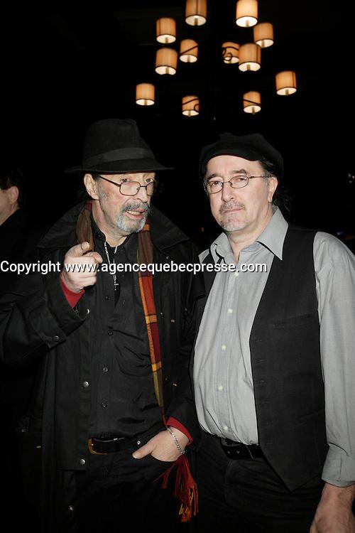 Montreal (Qc) CANADA - Feb 3 2009 -<br /> Bruno Pelletier album launch RogerTabra, Emilio Armilles