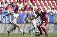 11th March 2020, Frisco, Texas, USA;  Aitana Bonmati of Spain challenges Ellen White of England during the 2020 SheBelieves Cup Womens International Friendly  football match between England Women vs Spain Women at Toyota Stadium in Frisco