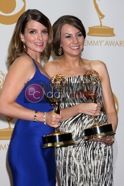 Tina Fey, Tracey Wigfield<br /> at the 65th Annual Primetime Emmy Awards Press Room, Nokia Theater, Los Angeles, CA 09-22-13<br /> David Edwards/DailyCeleb.Com 818-249-4998