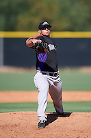 Colorado Rockies pitcher Jerry Vasto (57) during an Instructional League game against the Los Angeles Angels of Anaheim on October 6, 2016 at the Tempe Diablo Stadium Complex in Tempe, Arizona.  (Mike Janes/Four Seam Images)