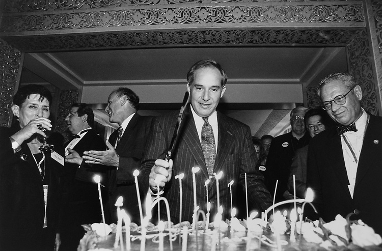 Rep. Robert Torricelli, D-N.J., at a birthday party in Chicago during Democratic Convention in August 1996. (Photo by Rebecca Roth/CQ Roll Call)