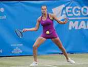 June 16th 2017, The Northern Lawn tennis Club, Manchester, England; ITF Womens tennis tournament; Number four seed Aryna Sabalenka (BLR) in action during her quarter final singles match against number five seed Anna Blinkova (RUS)