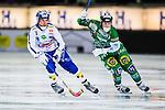 Stockholm 2013-11-08 Bandy Elitserien Hammarby IF - Villa Lidk&ouml;ping BK :  <br /> Villa Lidk&ouml;ping Daniel Andersson i kamp om bollen med Hammarby Adam Giljam <br /> (Foto: Kenta J&ouml;nsson) Nyckelord: