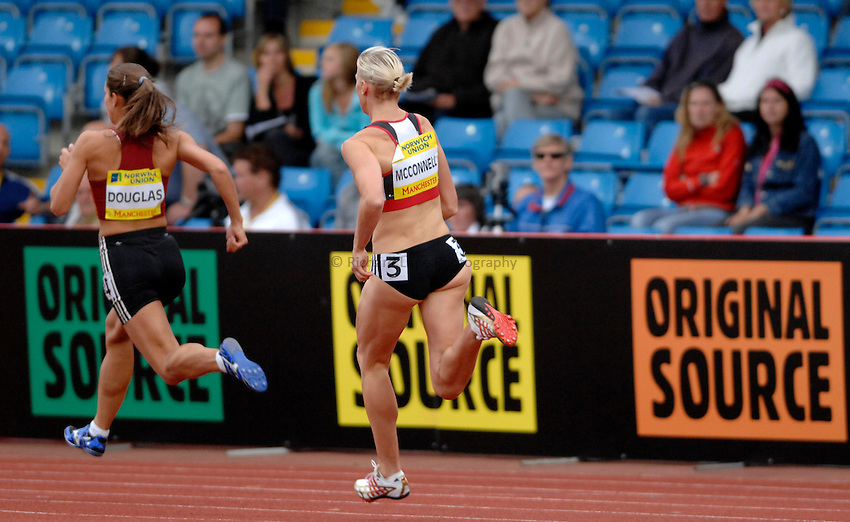Photo: Richard Lane/Richard Lane Photography..Norwich Union World Trials and AAA Championships. 28/07/2007. .Lee McConnell in a women's 400m hurdles heat.