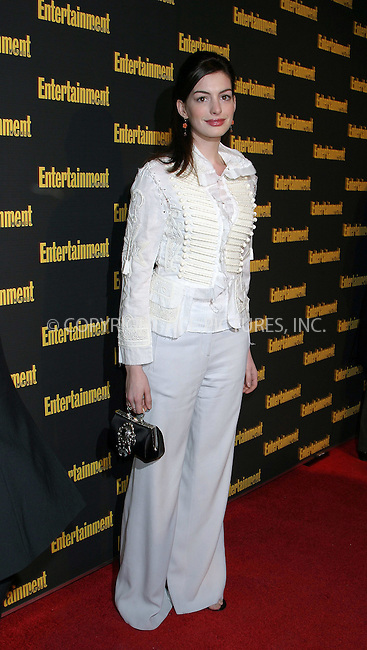 WWW.ACEPIXS.COM . . . . . ....NEW YORK, FEBRUARY 27, 2005....Anne Hathaway at Entertainment Weekly's Academy Awards party at Elaine's.....Please byline: ACE009 - ACE PICTURES.. . . . . . ..Ace Pictures, Inc:  ..Philip Vaughan (646) 769-0430..e-mail: info@acepixs.com..web: http://www.acepixs.com