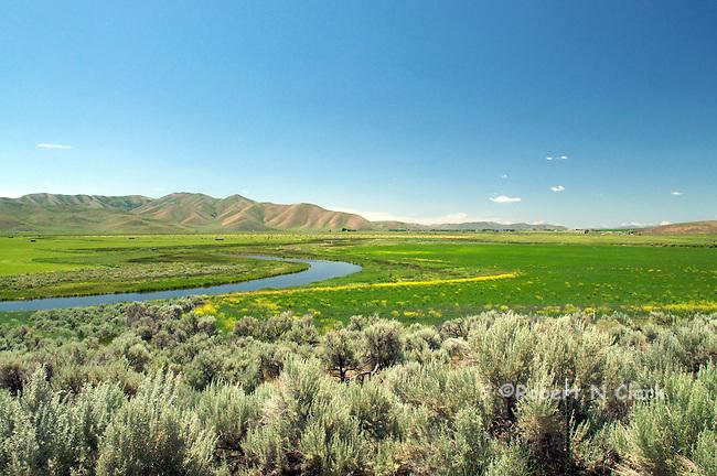 Oxbows on lower Silver Creek near Picabo, Idaho
