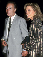 Faye Dunaway and author Frederick Forsyth Undated<br /> Photo By John Barrett/PHOTOlink