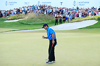Patrick Reed(USA) in action during the final round of the Northern Trust played at Liberty National Golf Club, Jersey City, USA. 11/08/2019<br /> Picture: Golffile | Michael Cohen<br /> <br /> All photo usage must carry mandatory copyright credit (© Golffile | Michael Cohen)
