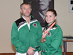 Keeva Byrne triple bronze medal winner with club instructor of Ireland Phil Smith. Photo:Colin Bell/pressphotos.ie