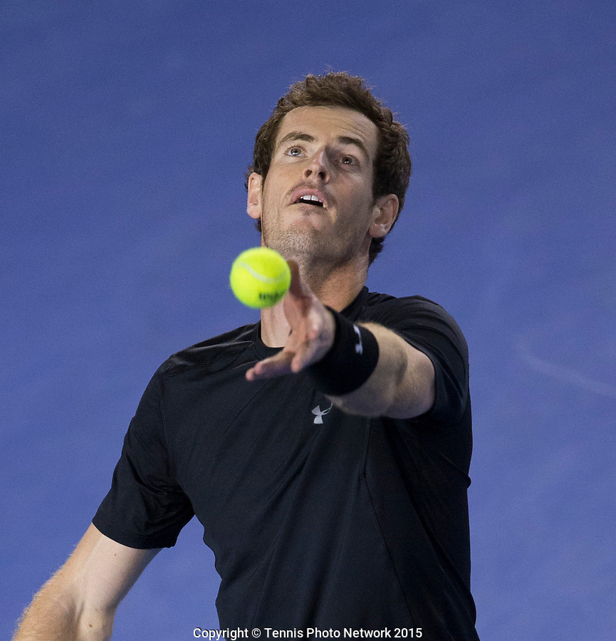 ANDY MURRAY (GBR)<br /> <br /> Tennis - Australian Open 2015 - Grand Slam -  Melbourne Park - Melbourne - Victoria - Australia  - 29 January 2015. <br /> &copy; AMN IMAGES