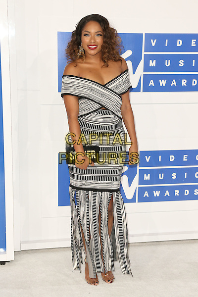 NEW YORK - AUGUST 28: Alicia Quarles arrives at the 2016 MTV Video Music Awards at Madison Square Garden on August 28, 2016 in New York City.<br /> CAP/MPI99<br /> &copy;MPI99/Capital Pictures