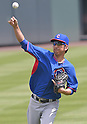 Kyuji Fujikawa (Cubs),<br /> AUGUST 7, 2014 - MLB :<br /> Kyuji Fujikawa of the Chicago Cubs during practice before the Major League Baseball game against the Colorado Rockies at Coors Field in Denver, Colorado, United States. (Photo by AFLO)